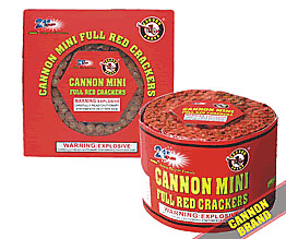 Cannon Mini Full Red Crackers