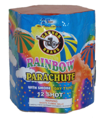 Rainbow Parachute w/smoke 12 shot