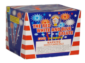 Red, White, Blue Salute 25 shot Fan